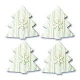 Набор полимерных украшений - Ёлочки (4 шт/уп) 4,5х4,5 см;